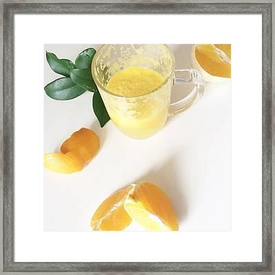 A Little Fresh Oj, Because Oranges Are Framed Print