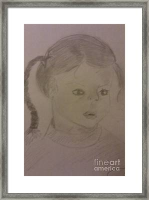 A Little Girl Framed Print