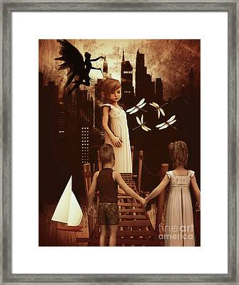 A Little Girl's Dream Framed Print by KaFra Art