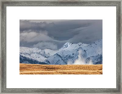 A Little Gust Framed Print