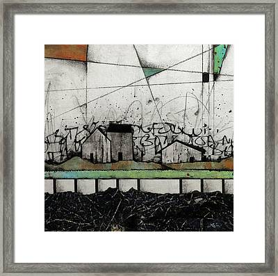 A Little Homestead  Framed Print