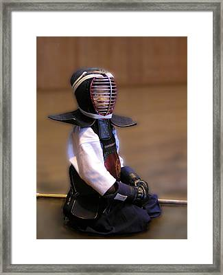 A Little Kendo Warrior Framed Print