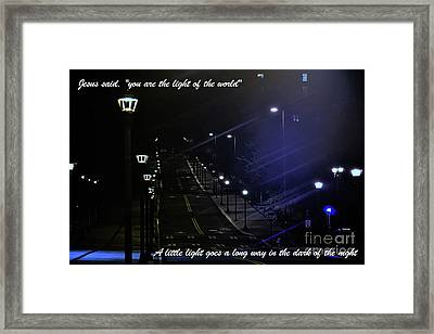 A Little Light Framed Print