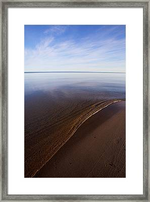 Framed Print featuring the photograph A Little Lip, Lake Superior by Jane Melgaard