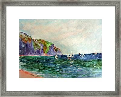 A Little Monet Framed Print