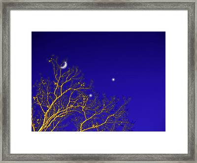 A Little Night Magic Framed Print by Wendy J St Christopher