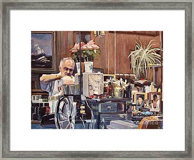 A Little Off The Top Framed Print by Deb Putnam