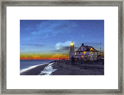 A Little Oil On Plaster Framed Print by Edward Kreis