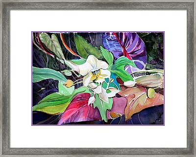 A Little Orchid Framed Print by Mindy Newman