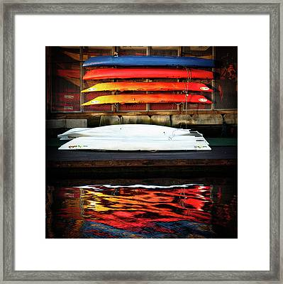 A Little Reflection Before The Adventure Framed Print