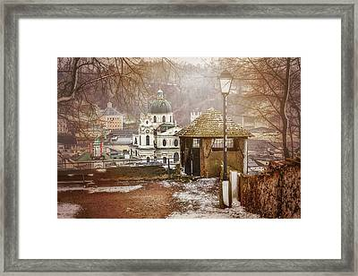 A Little Snow In Salzburg  Framed Print by Carol Japp