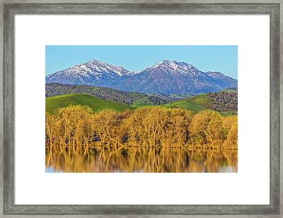 A Little Snow On Mt. Diablo Framed Print