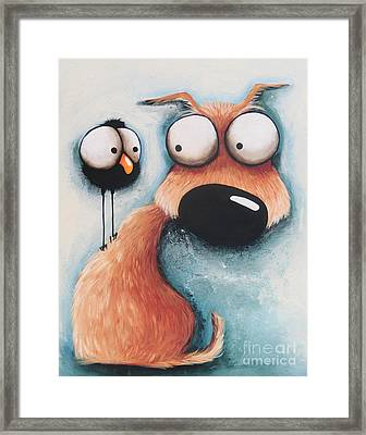 A Little Tattle Tale Framed Print by Lucia Stewart