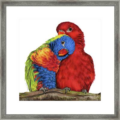 A Little To The Left Framed Print