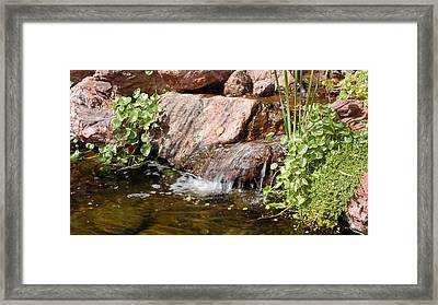 A Little Waterfall Framed Print by Susan Heller