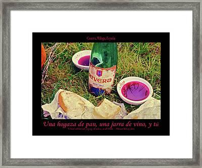 A Loaf Of Bread, A Jug Of Wine... Framed Print by Robert J Sadler