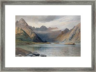 A Loch North Of Hadrian's Wall Framed Print by Walter Severn