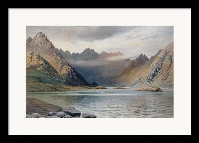 Glacial Valley Framed Prints