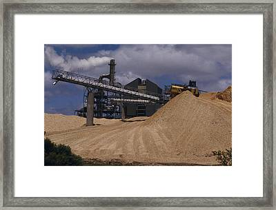 A Logging Wood Chip Mill And A Tractor Framed Print by Jason Edwards