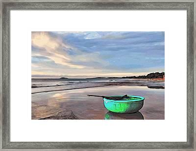 Lone Boat Framed Print