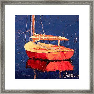 A Long Day Framed Print by Leslie Saeta