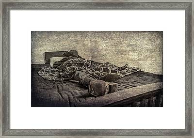 Framed Print featuring the photograph A Long Day On The Trail by Annette Hugen
