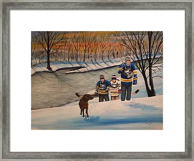 A Long Day Framed Print by Ron  Genest