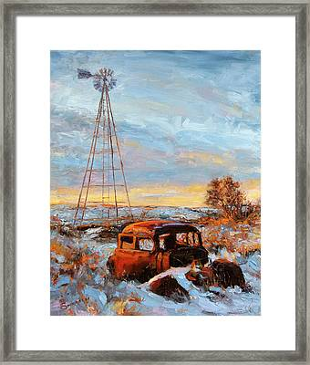 A Long Wait Framed Print by James Swanson