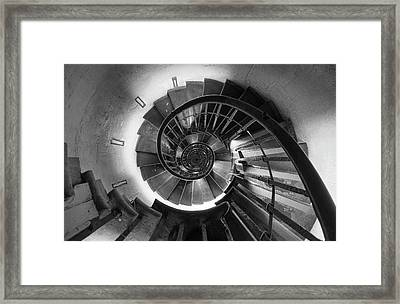 Framed Print featuring the photograph A Long Way Down by Quality HDR Photography