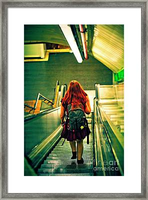 A Long Way To Go - Madrid Framed Print