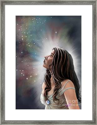 A Longing For The Stars Framed Print by Amyla Silverflame