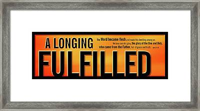 A Longing Fulfilled Framed Print by Shevon Johnson