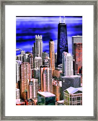 A Look At Chicago Framed Print by Kathy Tarochione