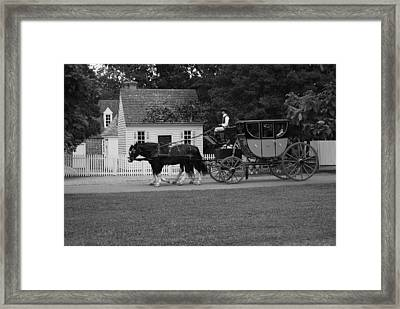 A Look Back Framed Print by Eric Liller