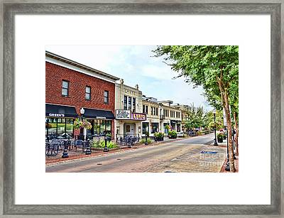 Framed Print featuring the photograph A Look Down College Avenue - Blacksburg Virginia by Kerri Farley