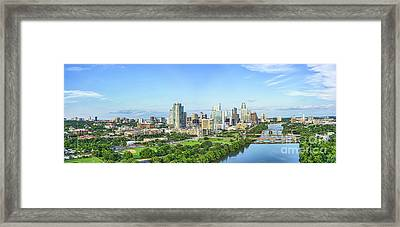 A Look Down The River Framed Print