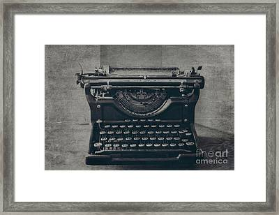 A Loss Of Words Framed Print by Emily Kay