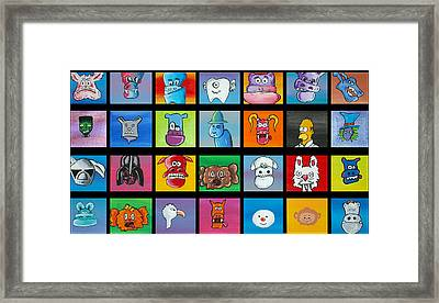 A Lot Of Character Framed Print