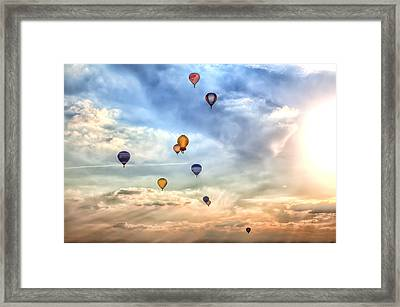 A Lot Of Colorful Hot-air Balloons Framed Print by Regina Koch