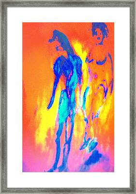 We Are In Love With Our Mental Chaos  Framed Print