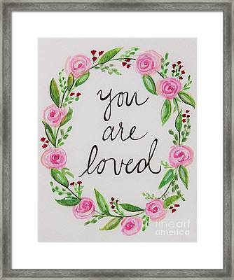 A Love Note Framed Print by Elizabeth Robinette Tyndall
