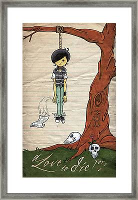 A Love To Die For Framed Print