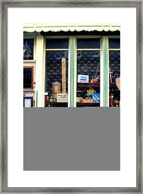 A Lovely Little Quaint Shop Framed Print by Jez C Self