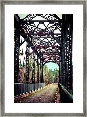 Framed Print featuring the photograph A Lovely Path by Mary Hone