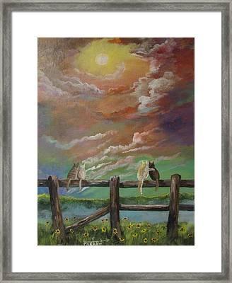 A Springtime Lovers Moon Framed Print