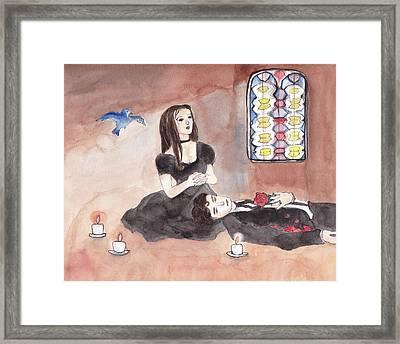 A Lover's Mourn Framed Print