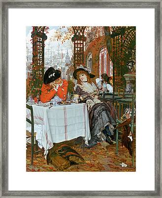 A Luncheon Framed Print by Tissot