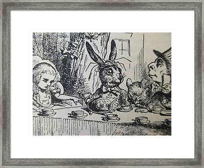 A Mad Tea-party Framed Print by David Lovins