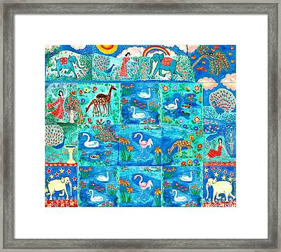 A Magic Country Framed Print by Sushila Burgess
