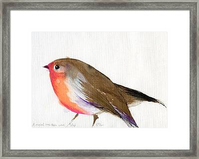 A Magical Little Robin Called Wisp Framed Print by Nancy Moniz